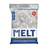 Snow Joe MELT50CC Calcium Chloride Crystals Ice Melter Resealable Bag, 50-Pound