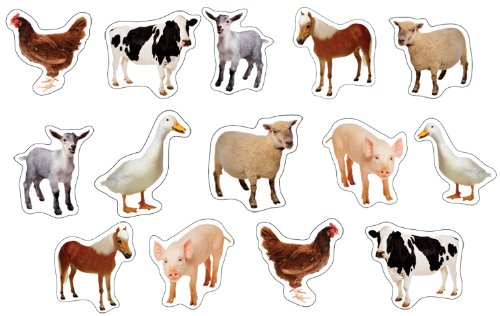 Farm Animal Stickers (Carson Dellosa Farm Animals: Photographic Shape Stickers)