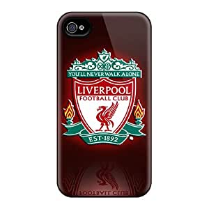 Durable Hard Cell-phone Cases For Iphone 4/4s With Custom Trendy Liverpool Fc Series ChristopherWalsh