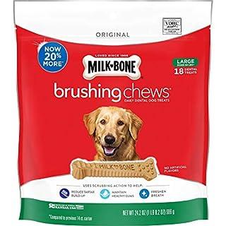 Milk-Bone Original Brushing Chews, 18 Large Daily Dental Dog Treats
