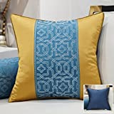 HOMEE a New Modern Chinese Chip-Pillow Sofa Pillow Back Lumbar Pillow Cushion Large Armful Pillows ,45X45Cm, Kit 3 Diagonal Blue,In Blue,45X45cm