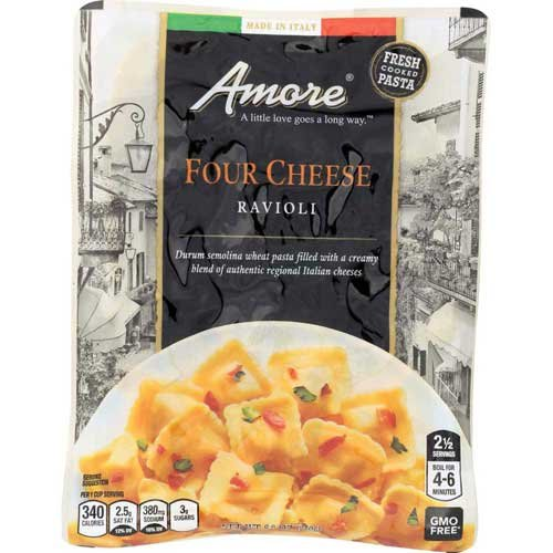 Amore Four Cheese Ravioli, 8.8 Ounce - 6 per case.