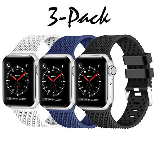- Lwsengme Compatible with Apple Watch Band 38mm 42mm 40mm 44mm Multi-Colors Rubber Replacement Sport Wristbands for iwatch Series 4/3/2/1(S/M M/L)