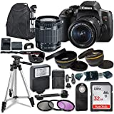 Canon EOS Rebel T6i SLR Camera with Canon EF-S 18-55mm is STM Lens + Sandisk 32GB SDHC Memory Card, Backpack and Accessory Bundle