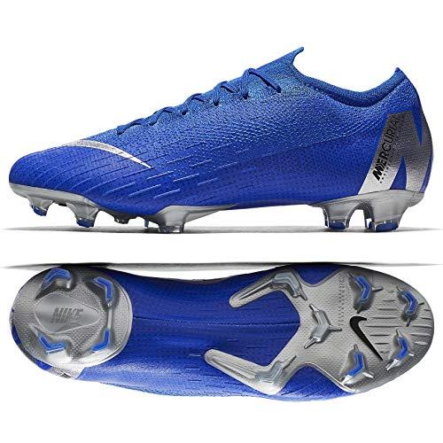 (Nike Mercurial Vapor 12 Elite FG AH7380-400 Racer Blue/Silver Men's Soccer Cleats)