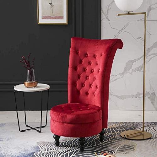 Velvet High Back Queen Throne Chair Review