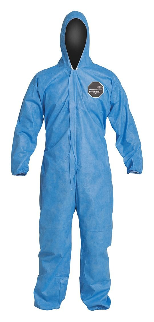 Hooded Disp. Coverall, Blue, 5XL, PK25