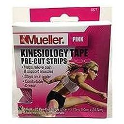 Mueller Pink Kinesiology Tape, 20 Pre-cut Strips Per Roll (2 Rolls)