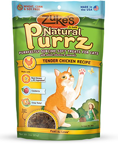 Zuke's Natural Purrz Cat Treats, Tender Chicken Recipe, 3-Ounces - Zukes Chicken Cat Treats