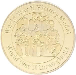 Moneda Conmemorativa de la Segunda Guerra Mundial, 2ª colección de premios de medallas de Victoria, Monedas coleccionables de Recuerdo, Regalo de aleación, Plata y Oro: Amazon.es: Hogar