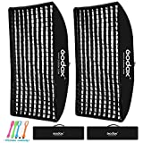 Godox 60x90cm / 24x36 inches Rectangular Portable Softbox Lighting Honeycomb Grid Beehive & Bowens Mount Speedring for Speedlite Studio Flash Monolight,Portrait and Product Photography (2PCS)