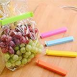 plastic bag sealer tape - LIVDAT 20 Pcs Reusable Bag Sealer Sticks Plastic Sealing Chip Clips for Bread Snack Coffee Fruit Food Herbs