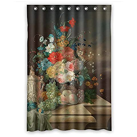 GIOOD Polyester Famous Classic Art Painting Flowers Blossoms Christmas Shower Drape Width X Height / 48 X 72 Inches / W H 120 By 180 Cm Best Choice For Boys Girls Boys Birthday. Water Repellent -
