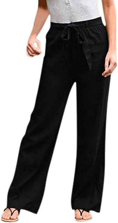 Womens Fall Full Length Wide Leg Trousers Ladies Yoga Sports Gym Pants UK SHIP