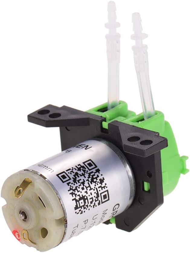 Fesjoy Pompa per dosaggio DC 12 litri Pompa peristaltica Pompa acqua peristaltica Mini Pompa acqua peristaltica Testa autoadescante Funzione per analisi acquatica Laboratorio Analisi chimica Additivi