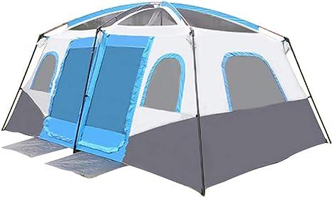 ZLXHZANHJZ Dos Habitaciones y una Sala Tienda de campaña al Aire Libre Tienda de campaña al Aire Libre Tiendas de Velocidad de construcción Libre Protección Solar portátil Militar (Size : 8-10P): Amazon.es: