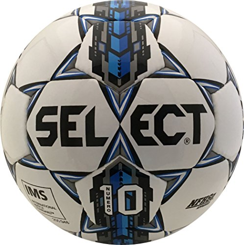 Select Numero 10 Soccer Ball, White/Royal Blue, 5
