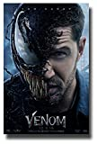 Venom Poster Movie Promo 11 x 17 inches 2018 Tom Hardy Half Face