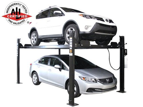 Atlas Apex 8 ALI Certified Hobbyist 8,000 Lb. Capacity 4 Post Parking Car Lift - Four Post Vehicle Lift