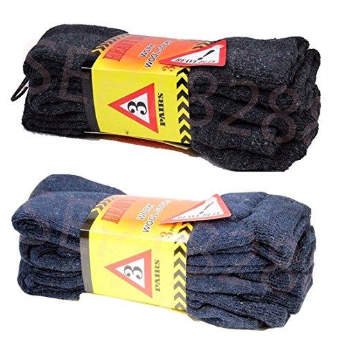 3 Pairs Men's Super Warm Heavy Thermal Merino Wool Winter...