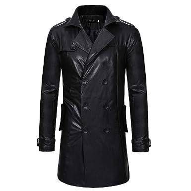 Amazon.com  Men s Winter Coat Sale Casual Fashion Button Long Sleeve ... 065e6b1fd589