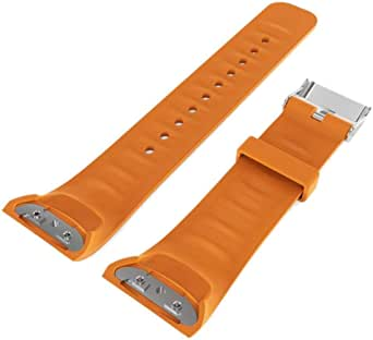Silicone Watch Bracelet From Liger Compatible With Samsung Gear Fit2 Pro SM-R365 / Gear Fit2 SM-R360 Orange Color