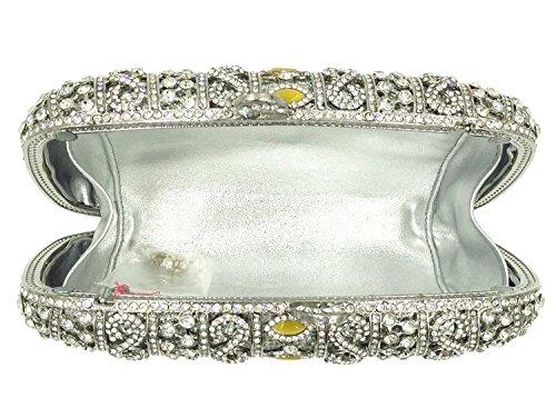 Mariage Main silver à Sac pour Bandouliere Maquillage Clutch Bourse Pochette Fête Femmes Bal Soirée Sac Chaîne UYqg44