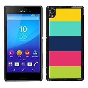 EJOY---Cubierta de la caja de protección para la piel dura ** Sony Xperia M4 Aqua ** --Patrón de colores pastel Clean feliz