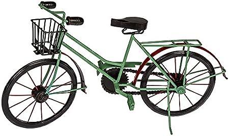 ootb Decorativa de Madera/Metal de Bicicleta con Cesta, Rojo ...