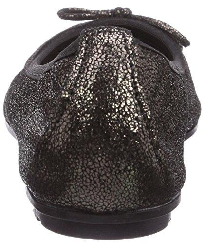 22127 Black Nero Tamaris Metallic Schwarz Ballerine 011 Donna pTwHHqPf