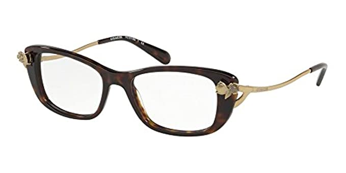 32b9188a51390 Coach Women s HC6118BF Eyeglasses Dark Tortoise 52mm at Amazon Women s  Clothing store