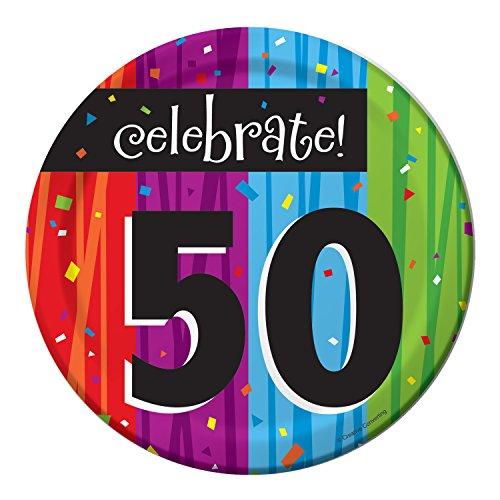 Milestone Celebrations 50th Birthday Dessert Plates, 24 ct]()
