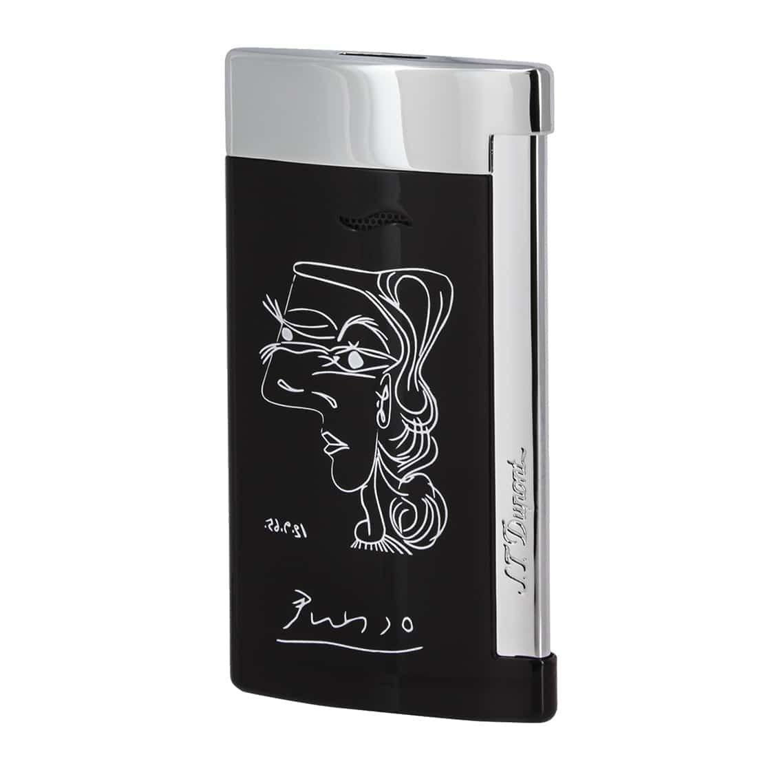 deluxe black picasso slim 7 lighter - S.T. Dupont