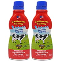 California Farms Sweetened Condensed Milk Full Cream, 14 Oz, Pack of 2