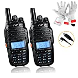 TYT TH-UV8000D Ultra-high Output Power 10W Amateur Handheld Transceiver, Dual Band Dual Display Dual Standby Two Way Radio with USB Program Cable- Pack of 2