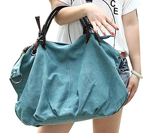 Multifunction Casual Retro Handbags Hobos DATO Body Tote Shoulder Bags Green Bags Fashion Canvas Large for Cross Bags Top Women Handle vqFAAO8wdx