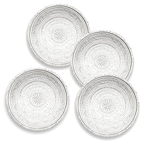 Barbecue 25.5cm SET OF 4 Emma Bridgewater WALLFLOWER Melamine Picnic Buffet Outdoor Dining PLATE