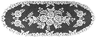 product image for Heritage Lace Victorian Rose 13-Inch by 36-Inch Runner, White
