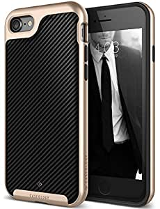 iPhone 7 Case, Caseology [Envoy Series] Classic Rich Texture PU Leather [Carbon Fiber Black] [Luxury Slim] for Apple iPhone 7 (2016)