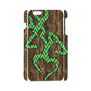 iPhone6 Retro Wood Green Browning LOVE Yellow Chevron Case Cover for iPhone6 4.7(Laser Technology)