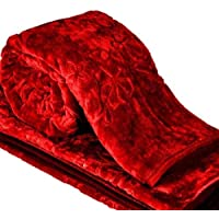 SquareShopKart Silky Soft Floral Double Bed Embossed Mink Blanket for Winters - Embossed Design That Will Enhance Your Room with Vibrant Attractive