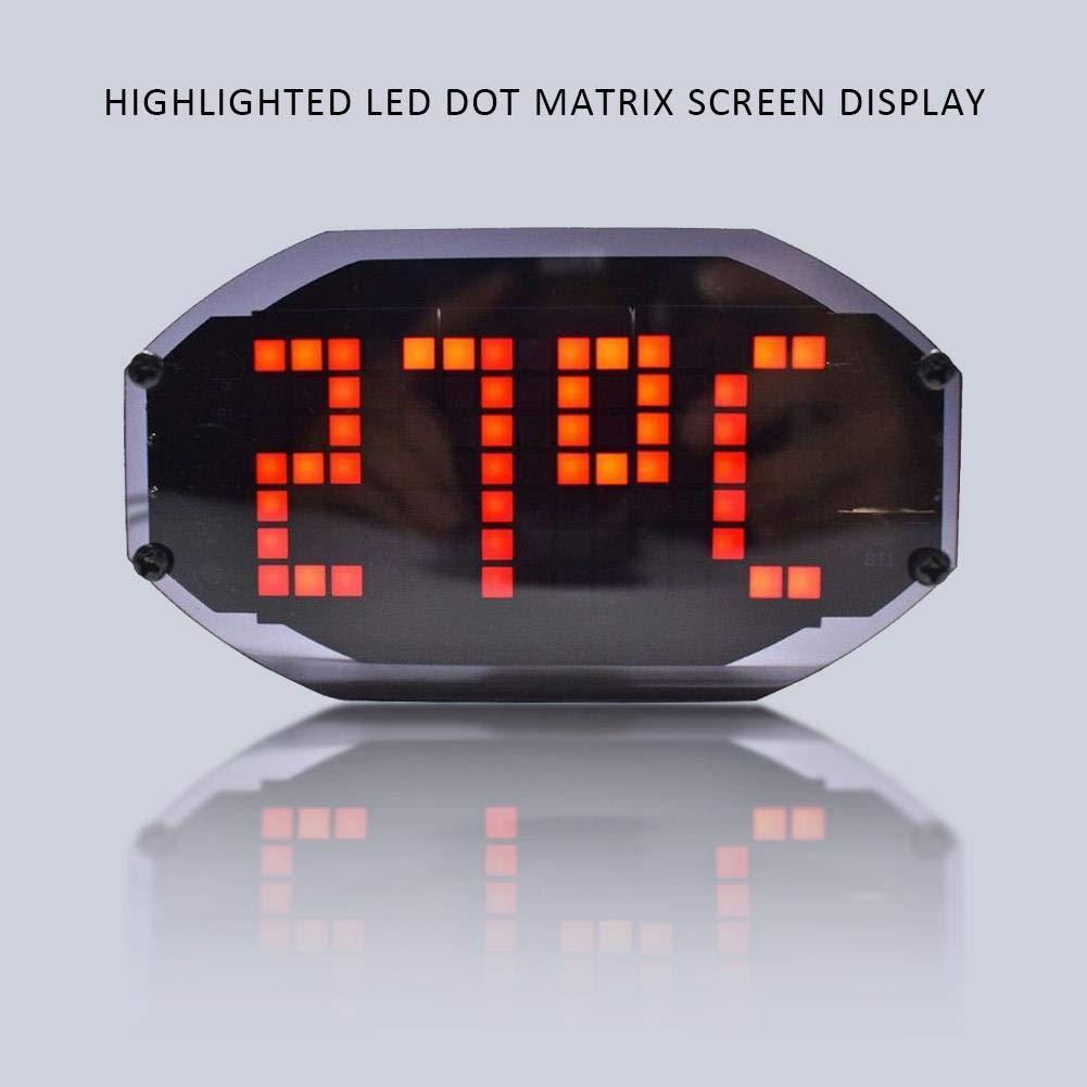 Digital Clock Kit, DIY LED Light-Control Electronic Digital Clock Module Kit Time Temperature Date Display DIY Kits Set(Red)