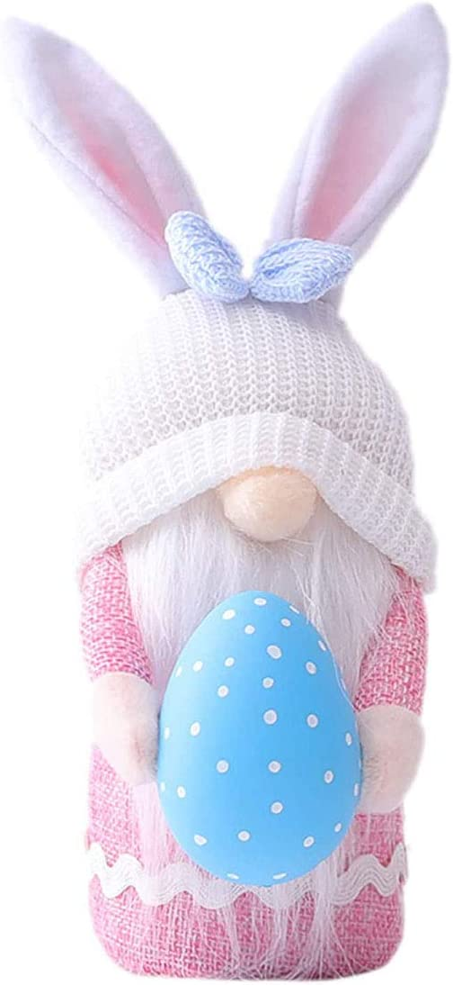 Easter Decorations Handmade Gnome Faceless Plush Doll Easter Gifts for Kids Women Men (1PCS-A)