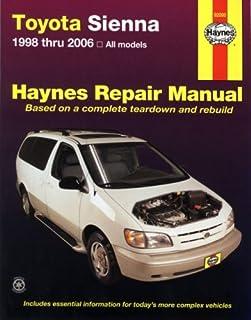 amazon com haynes repair manual for toyota sienna 1998 thru 2009 rh amazon com Haynes Manual Monte Carlo Back Haynes Manual for Quads