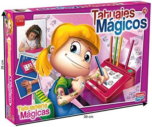 Falomir 11532, Juego Tatuajes Mágicos Niña: Amazon.es: Juguetes y ...