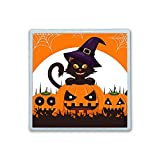 XIANN Care Contact Lens Box Holder Container Case Storage Eyecare Kit - Cat Pumpkins Witch Hat