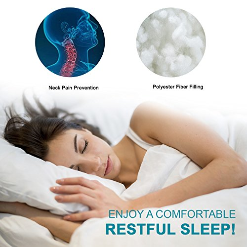 Adoric Life Premium Quality Bed Pillows, Down Alternative, Hypoallergenic & Dust Mite Resistant, Comfortable Pillows for Sleeping - Standard, 20x26, Set of 2