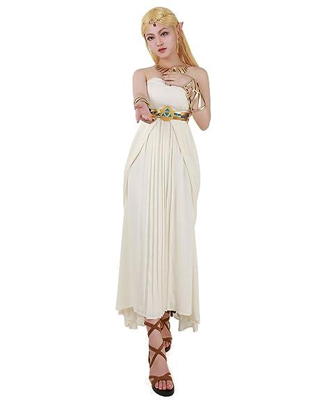 Zelda Wedding Dress.Miccostumes Women S Wild Breath Princess Chiffon Cosplay Costume Wedding Dress