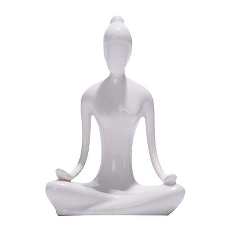 ECYC Figura Decorativa de cerámica Abstracta Arte Yoga Poses ...
