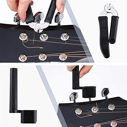 Auihiay 46 PCS Guitar Strings Changing Kit Guitar Tool Kit Including Guitar Strings Guitar Tuner Picks Capo Pins Guitar String Cutter and Winder for Beginner